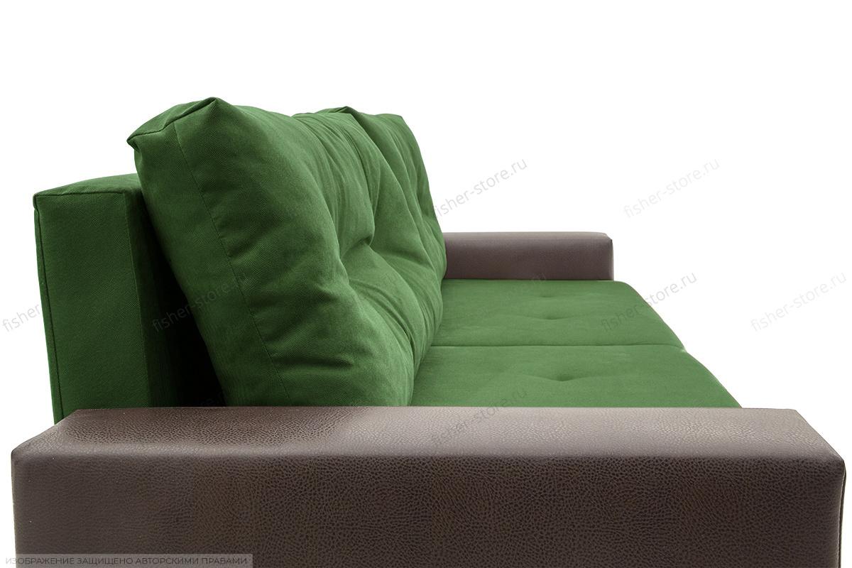 Прямой диван Хлоя Maserati Green + Sontex Umber Текстура ткани