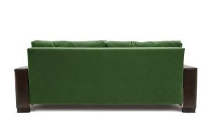 Прямой диван Хлоя Maserati Green + Sontex Umber Вид сзади