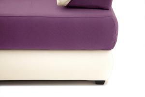 Прямой диван еврокнижка Фиджи Maserati Purple + White Ножки