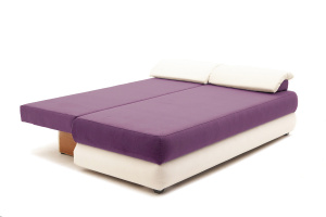 Прямой диван еврокнижка Фиджи Maserati Purple + White Спальное место