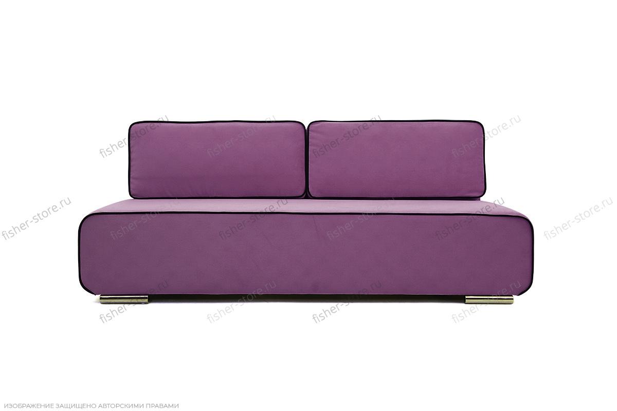 Прямой диван Лаки Maserati Purple + Black Вид спереди