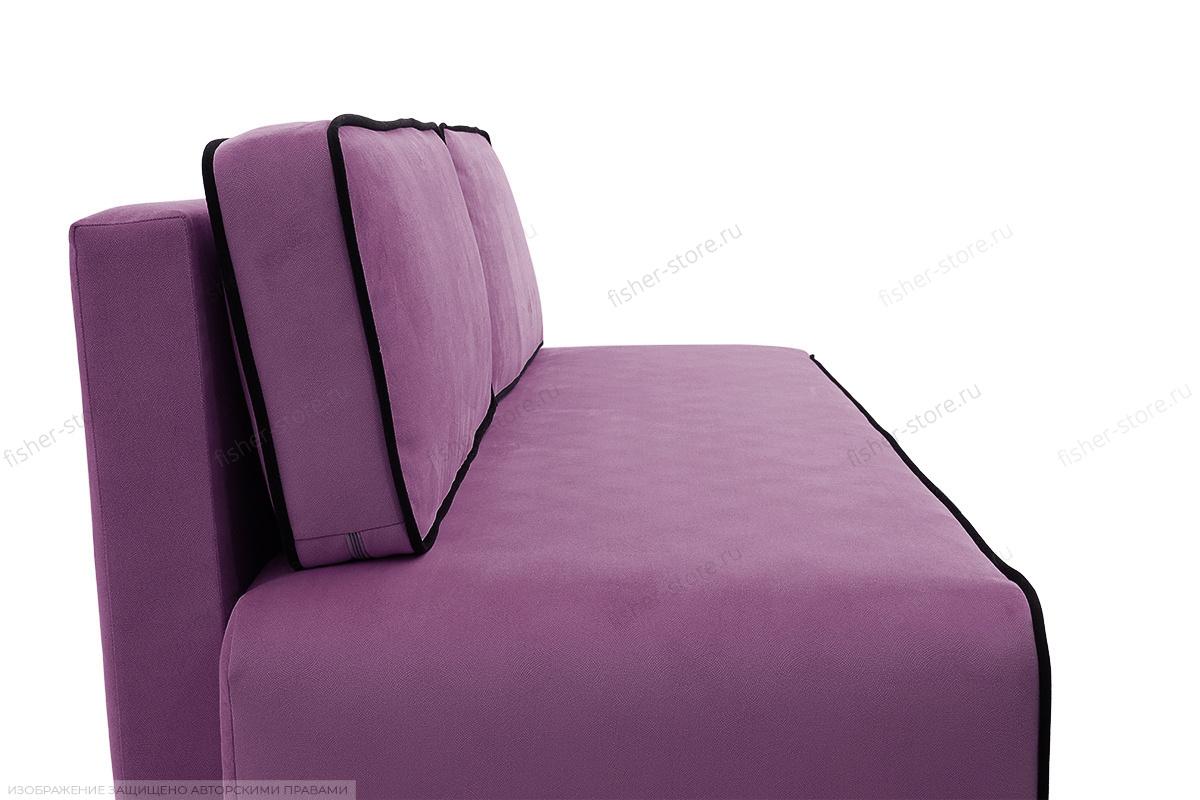 Прямой диван Лаки Maserati Purple + Black Вид сбоку