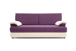 Прямой диван еврокнижка Фиджи Maserati Purple + White Вид спереди
