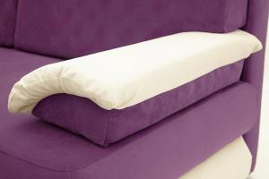 Прямой диван еврокнижка Фиджи Maserati Purple + White Текстура ткани