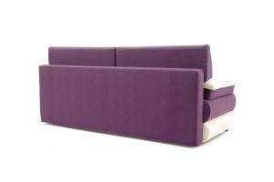 Прямой диван еврокнижка Фиджи Maserati Purple + White Вид сзади