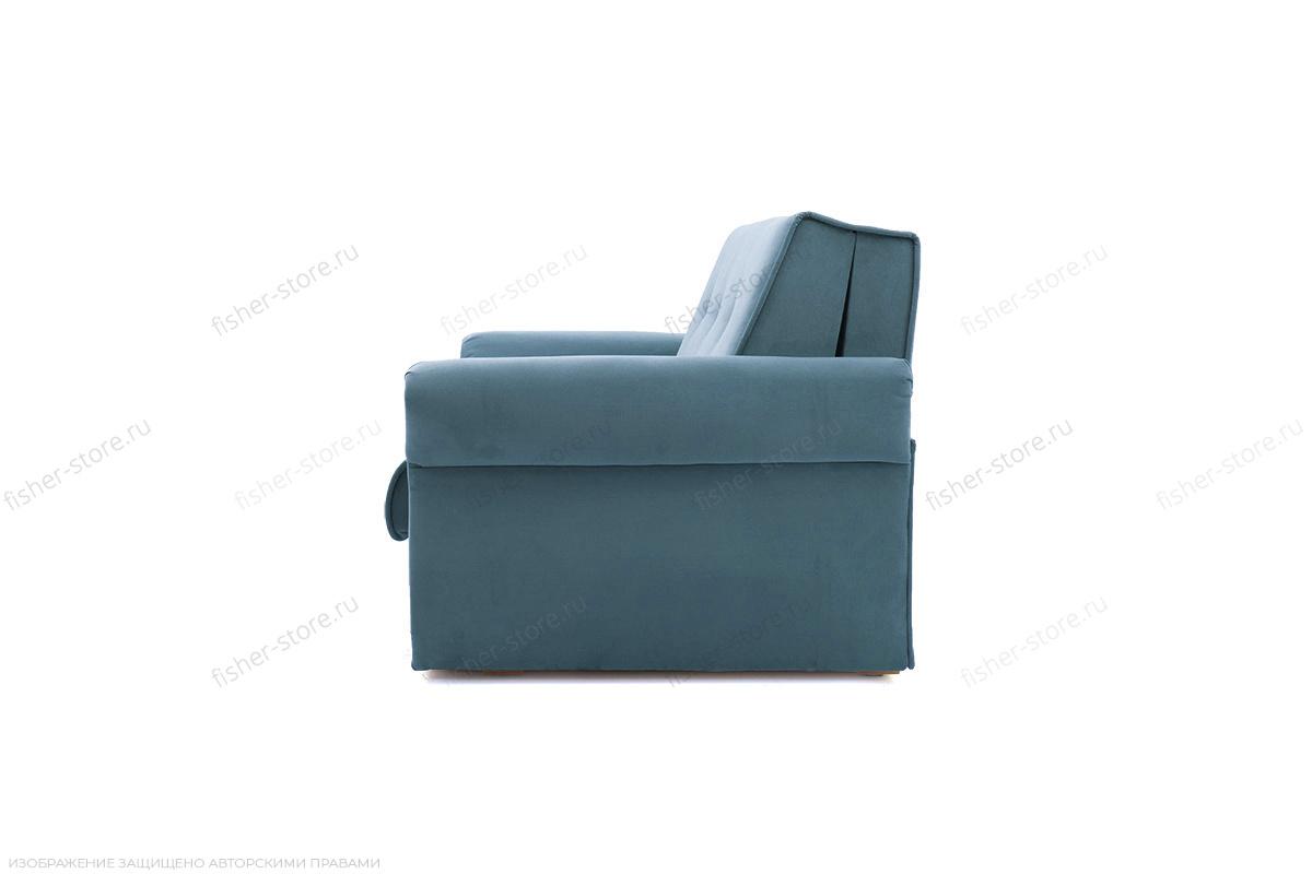 Прямой диван Аккорд-5 (120) Maserati Blue Вид сбоку