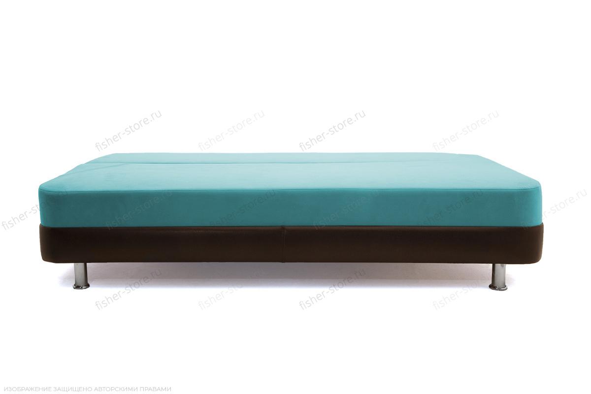 Прямой диван Алькантара-2 Maserati Light blue + Sontex Umber Спальное место