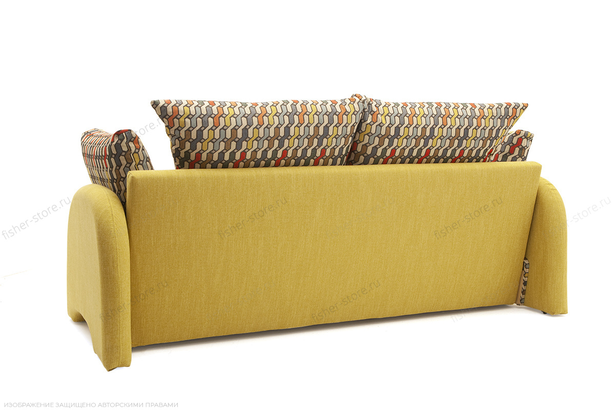 Светлый диван Ода History Bricks + Orion Mustard Вид сзади