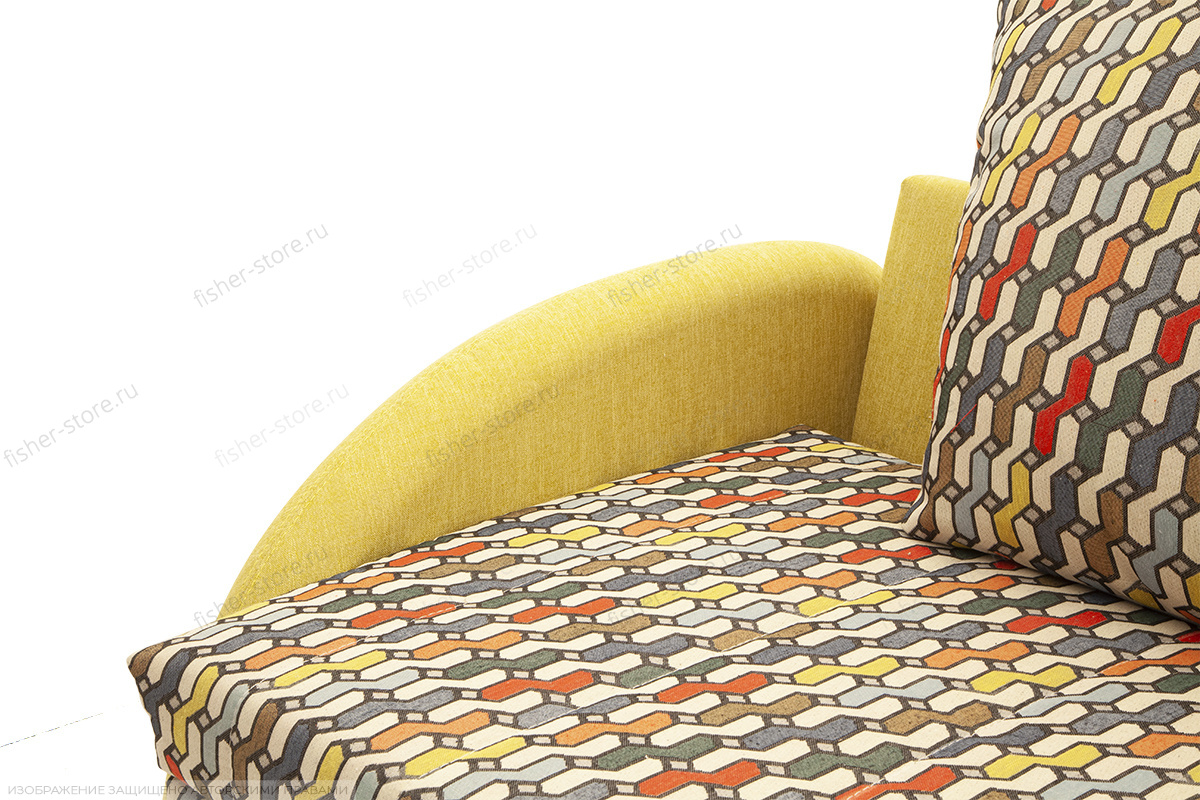 Светлый диван Ода History Bricks + Orion Mustard Текстура ткани