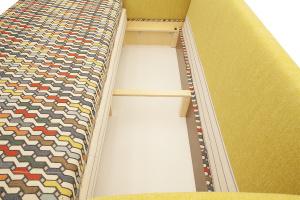 Светлый диван Ода History Bricks + Orion Mustard Ящик для белья