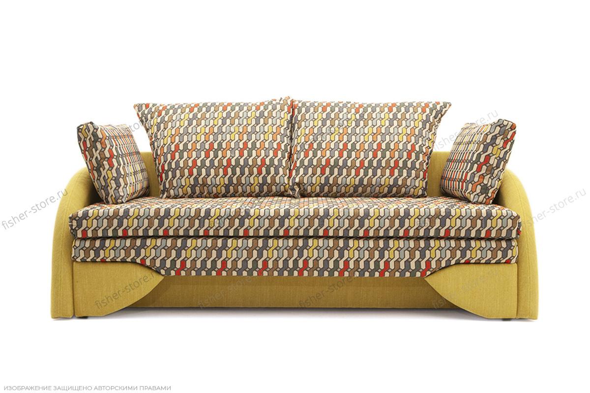 Светлый диван Ода History Bricks + Orion Mustard Вид спереди