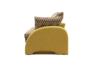 Светлый диван Ода History Bricks + Orion Mustard Подлокотник