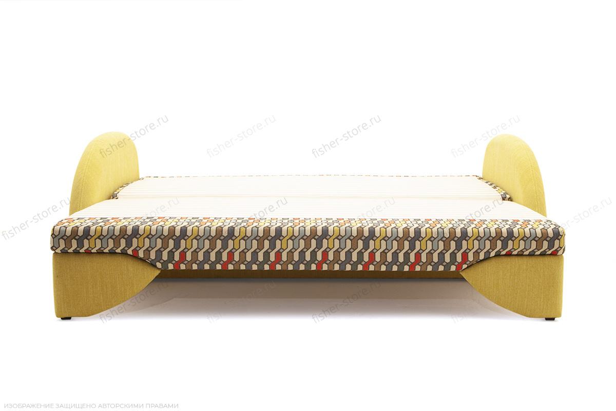 Светлый диван Ода History Bricks + Orion Mustard Спальное место