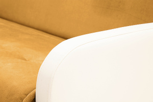 Прямой диван Аккорд  Amigo Yellow + Sontex Milk Подлокотник