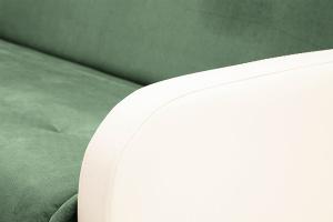 Прямой диван Аккорд  Amigo Green + Sontex Milk Подлокотник