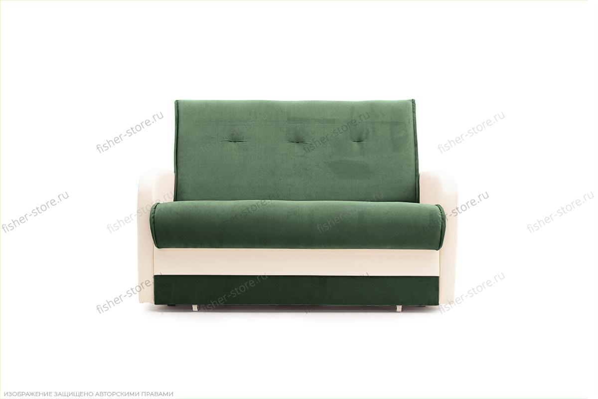 Прямой диван Аккорд  Amigo Green + Sontex Milk Вид спереди