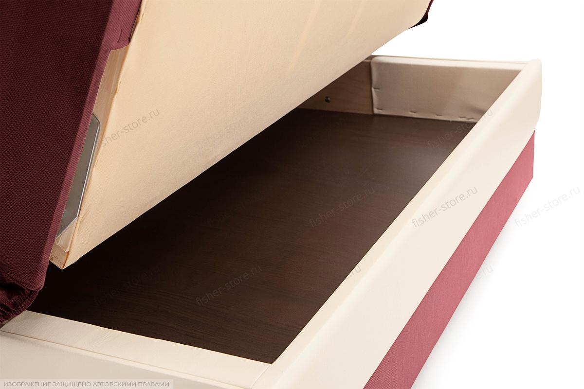 Прямой диван Аккорд (120) Amigo Berry + Sontex Milk Ящик для белья