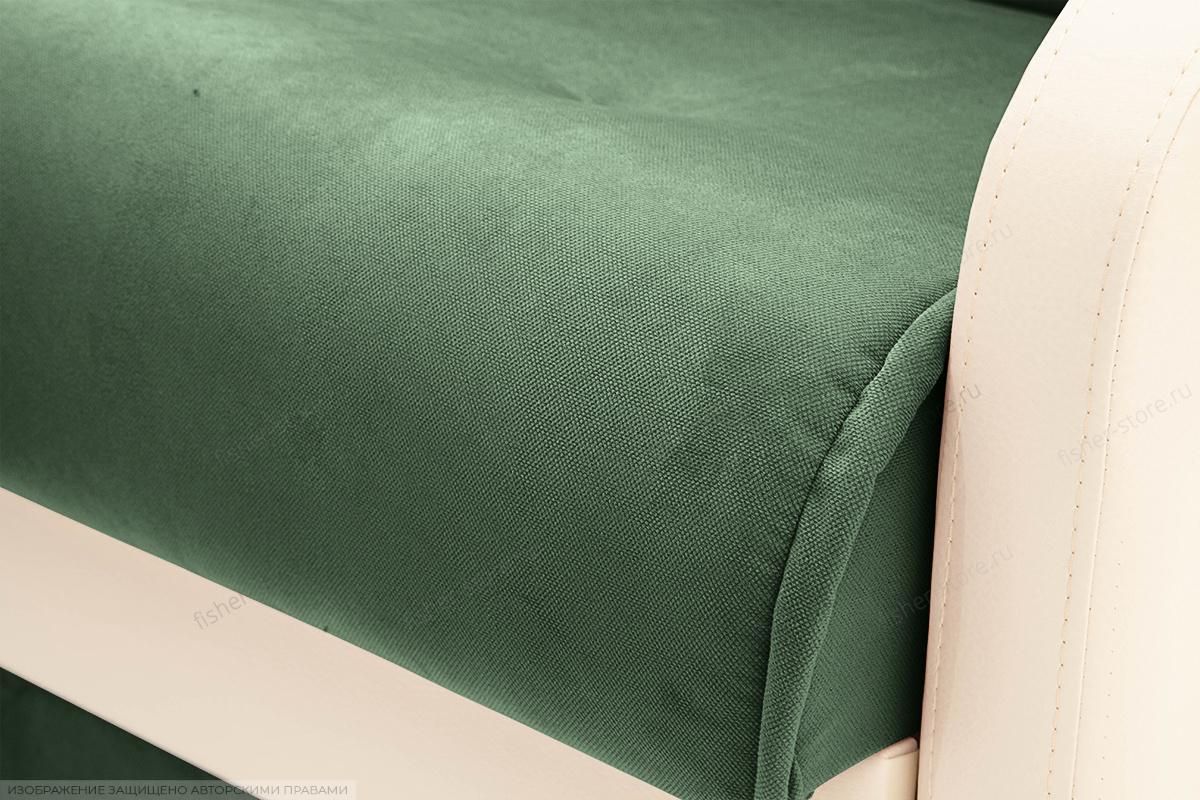 Прямой диван Аккорд  Amigo Green + Sontex Milk Текстура ткани