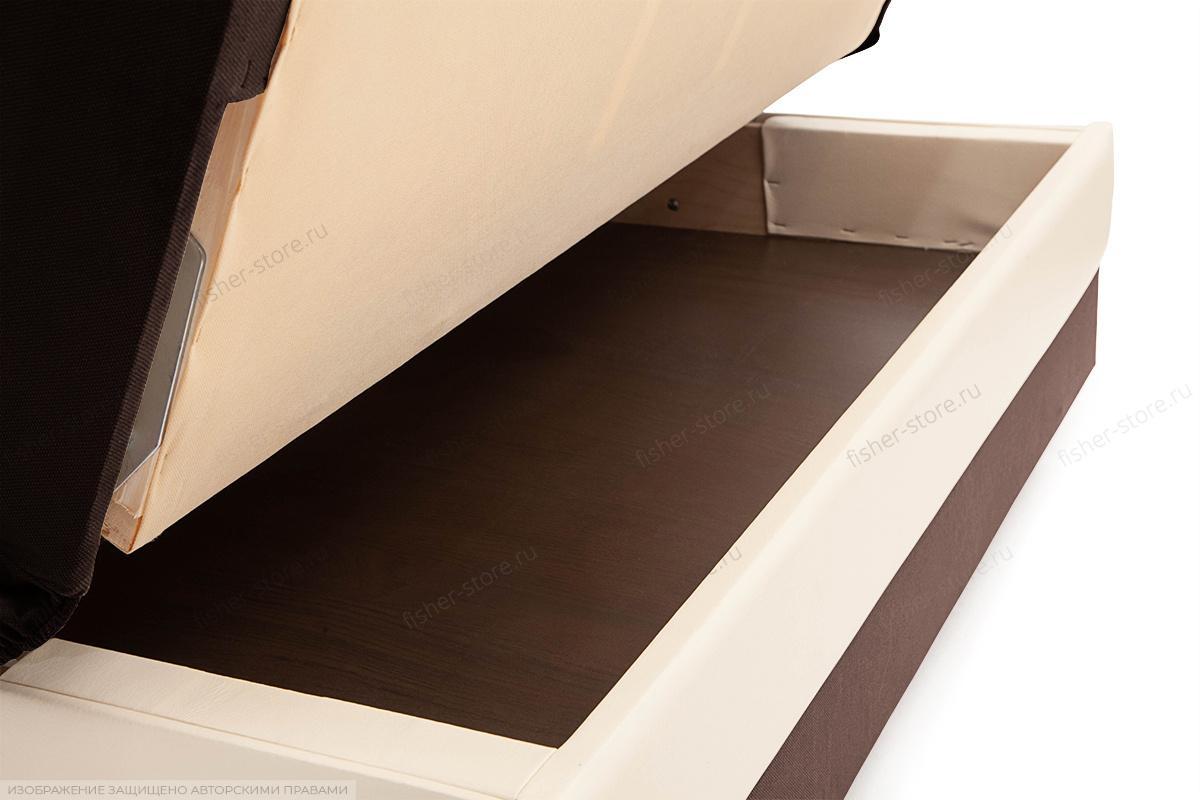 Диван Аккорд  Amigo Brown + Sontex Milk Ящик для белья