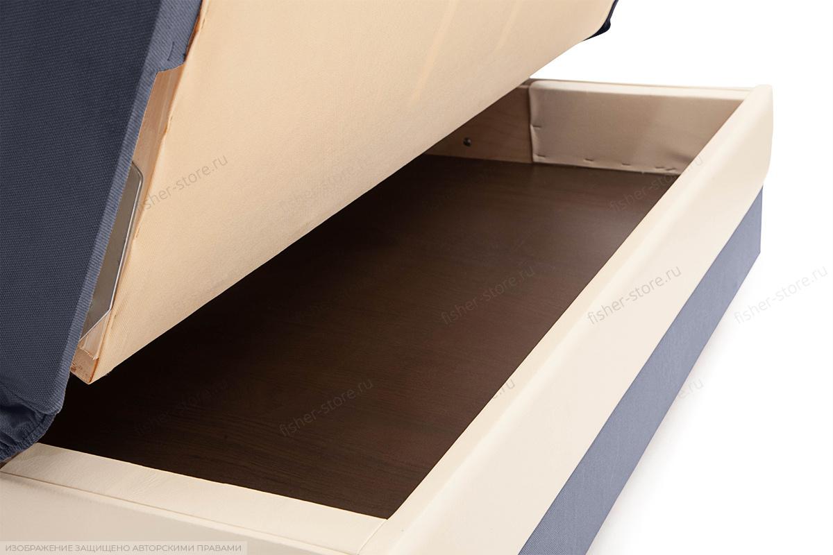 Прямой диван Аккорд  Amigo Navy + Sontex Milk Ящик для белья
