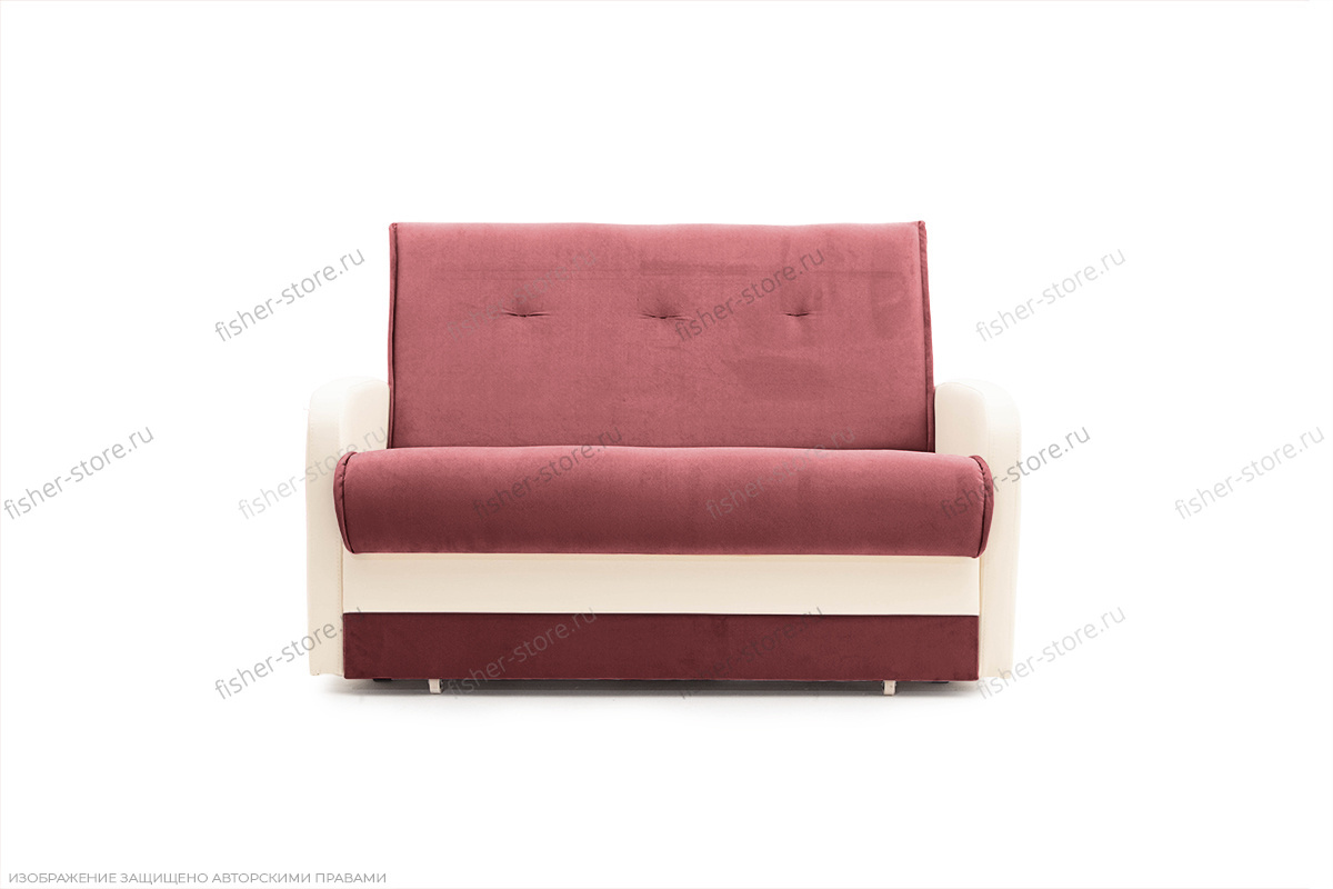 Прямой диван Аккорд (120) Amigo Berry + Sontex Milk Вид спереди