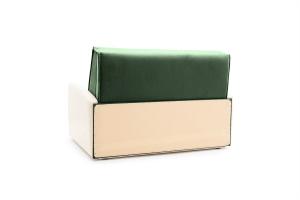 Прямой диван Аккорд  Amigo Green + Sontex Milk Вид сзади