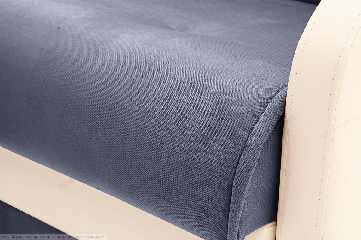 Прямой диван Аккорд  Amigo Navy + Sontex Milk Текстура ткани