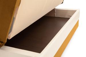 Прямой диван Аккорд  Amigo Yellow + Sontex Milk Ящик для белья