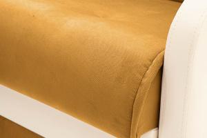 Прямой диван Аккорд  Amigo Yellow + Sontex Milk Текстура ткани