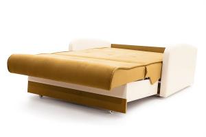 Прямой диван Аккорд  Amigo Yellow + Sontex Milk Спальное место