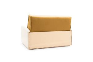 Прямой диван Аккорд  Amigo Yellow + Sontex Milk Вид сзади