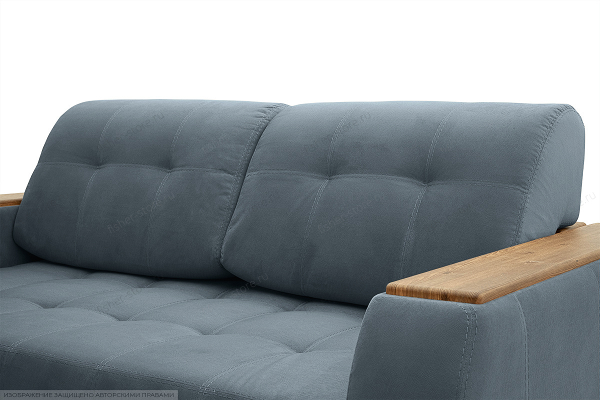 Двуспальный диван Берлин-2 Maserati Gray blue Подушки