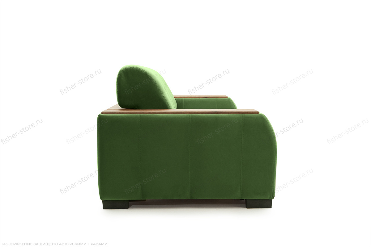 Прямой диван Берлин-2 Maserati Green Вид сбоку