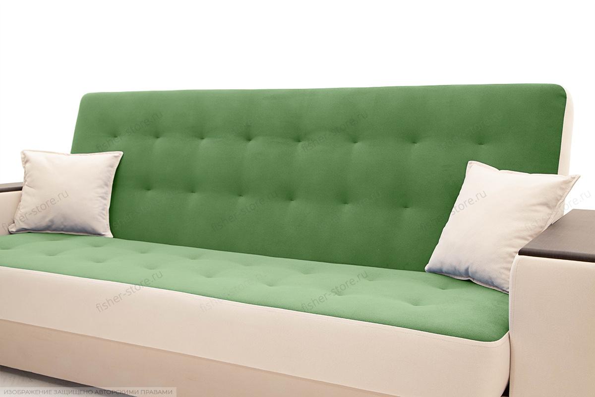 Прямой диван Берри люкс Maserati Green + Beight Подушки