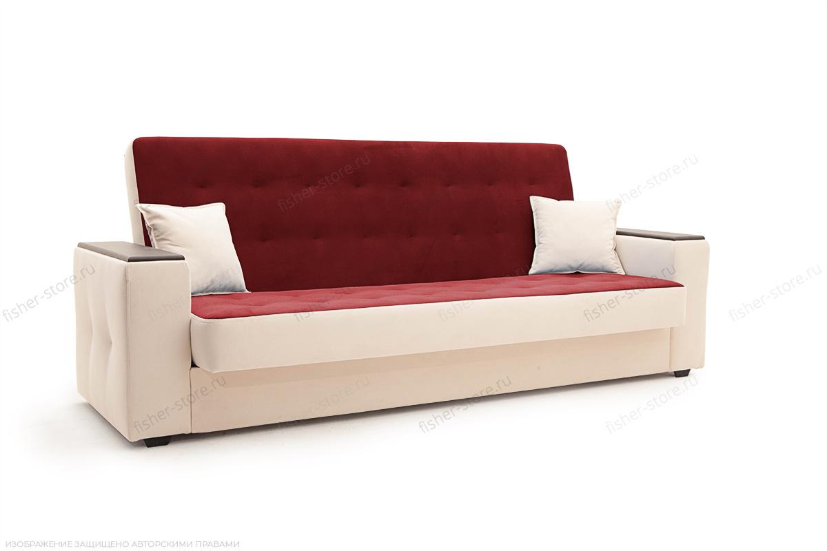 Прямой диван Берри люкс Maserati Red + Beight Вид сбоку