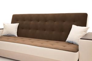 Прямой диван Берри люкс Maserati Brown + Beight Подушки