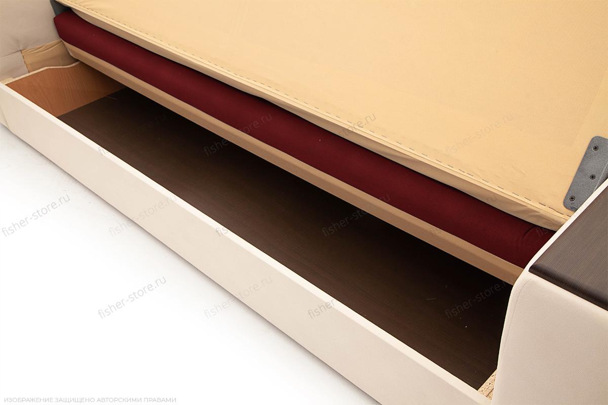 Прямой диван Берри люкс Maserati Red + Beight Ящик для белья