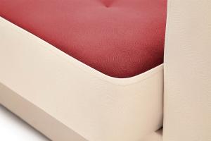 Прямой диван Берри люкс Maserati Red + Beight Текстура ткани