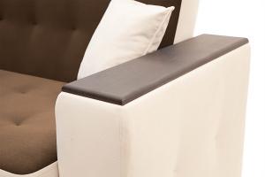 Прямой диван Берри люкс Maserati Brown + Beight Подлокотник