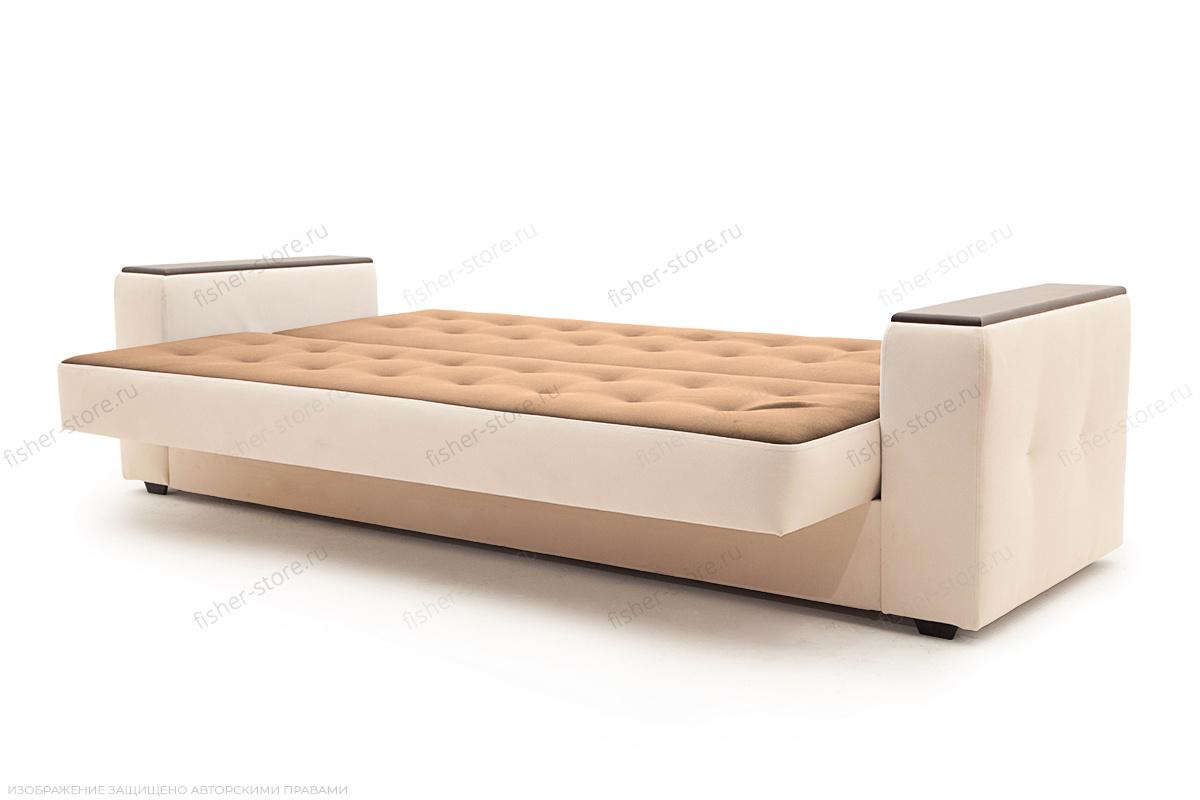 Прямой диван Берри люкс Maserati Brown + Beight Спальное место