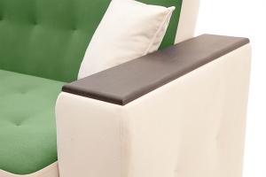 Прямой диван Берри люкс Maserati Green + Beight Подлокотник