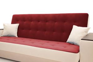 Прямой диван Берри люкс Maserati Red + Beight Подушки