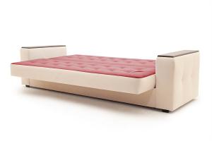 Прямой диван Берри люкс Maserati Red + Beight Спальное место