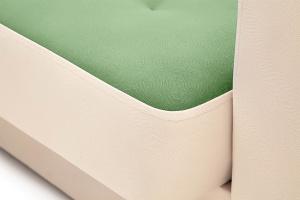 Прямой диван Берри люкс Maserati Green + Beight Текстура ткани
