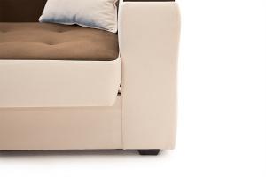 Прямой диван Берри люкс Maserati Brown + Beight Ножки