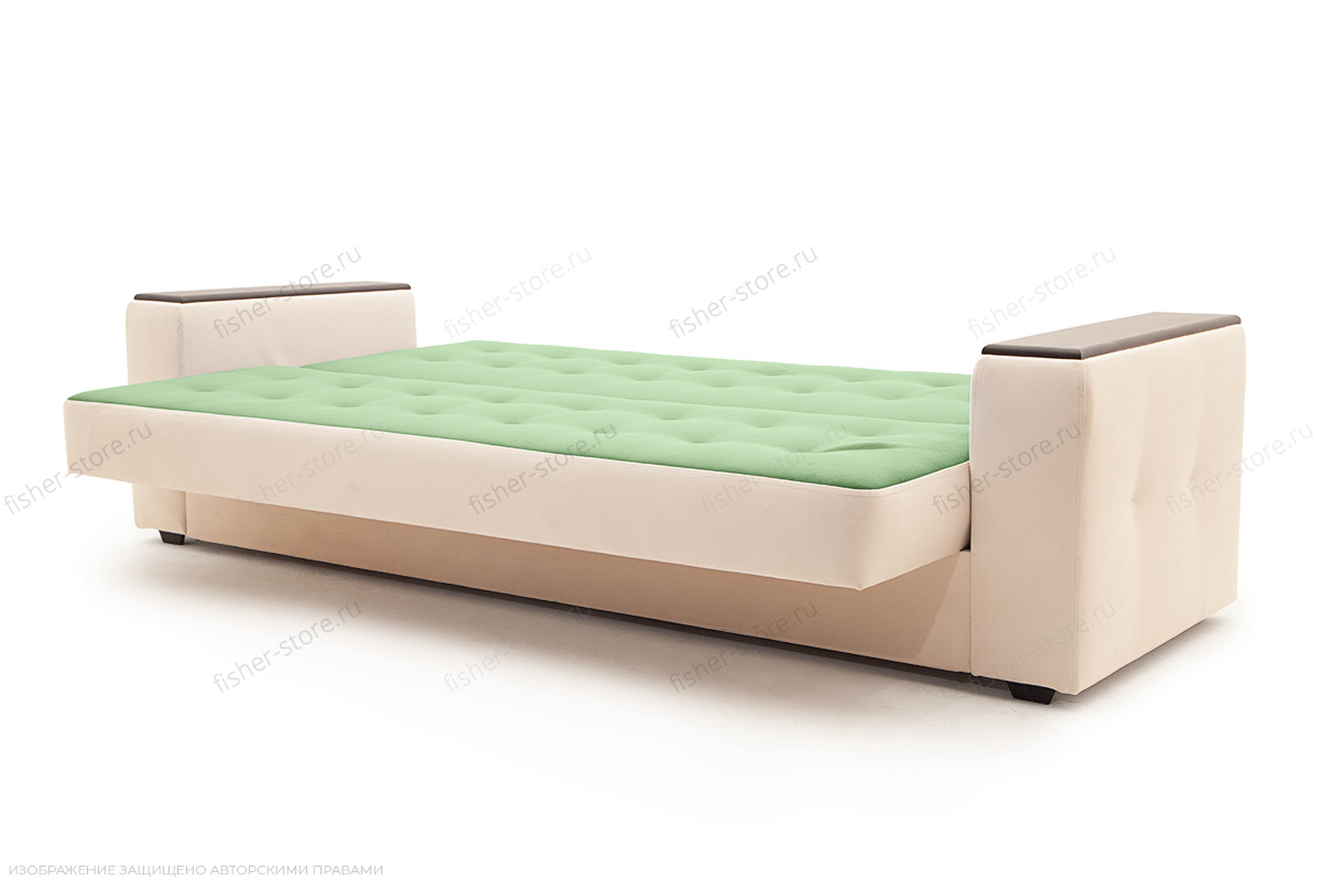 Прямой диван Берри люкс Maserati Green + Beight Спальное место