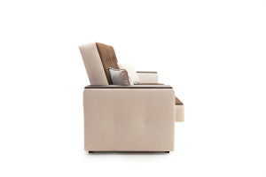Прямой диван Берри люкс Maserati Brown + Beight Вид сбоку