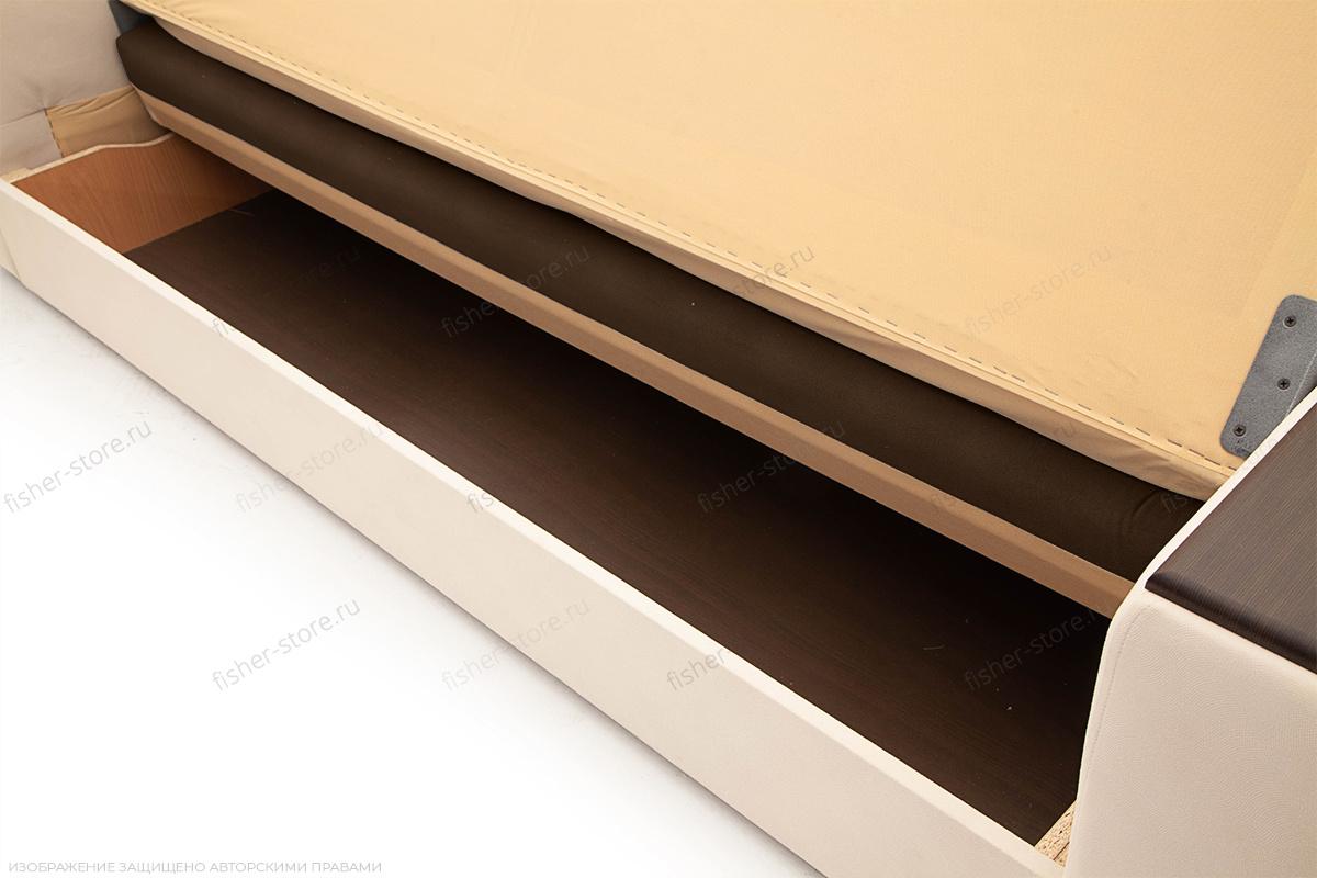 Прямой диван Берри люкс Maserati Brown + Beight Ящик для белья