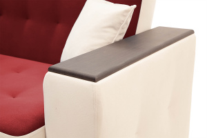 Прямой диван Берри люкс Maserati Red + Beight Подлокотник