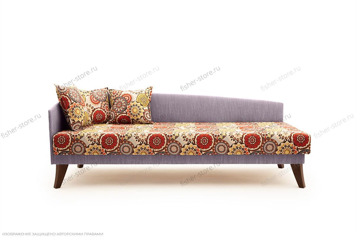 Двуспальный диван Парус-2 с опорой №11 History Summer + Orion Lilac Вид спереди